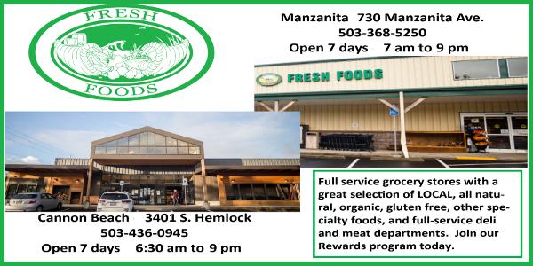 Fresh Foods - Manzanita & Cannon Beach